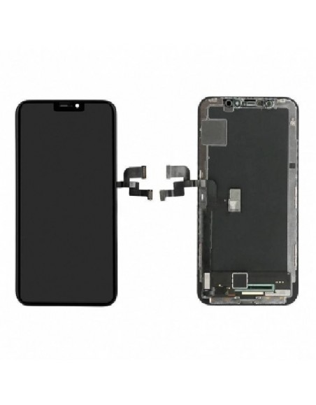 iPhone X LCD Screen and Digitizer Assembly with Frame (O-LED) - Black  - 1