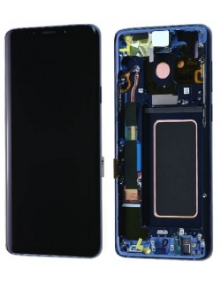 Samsung Galaxy S9 LCD Screen Digitizer Assembly with Frame - Coral Blue - Original GH97-21696D