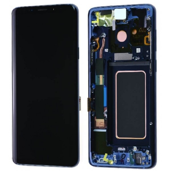 Samsung Galaxy S9 LCD Screen Digitizer Assembly with Frame - Coral Blue - Original GH97-21696D Samsung - 1