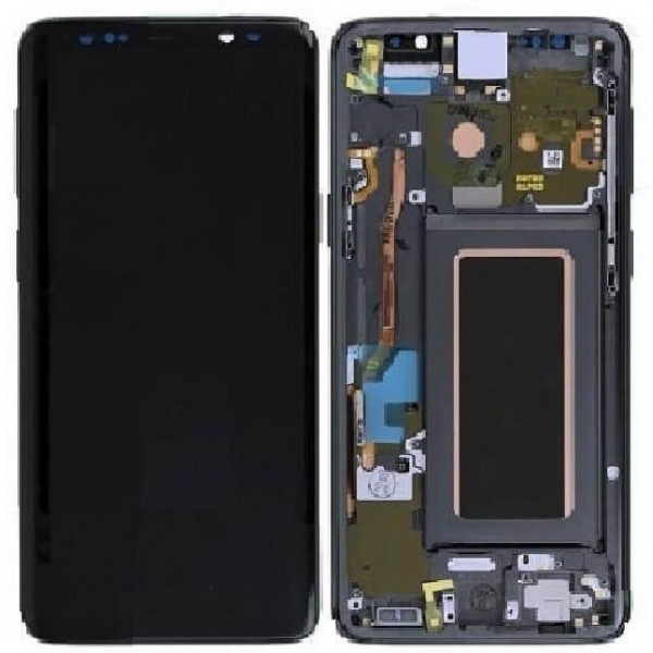 Samsung Galaxy S9 LCD Screen Digitizer Assembly with Frame - Gray - Original GH97-21696C Samsung - 1