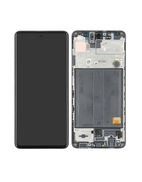 Samsung Galaxy A51 SM-A515FN/DS  LCD Screen Digitizer Assembly with Frame - Black - Original Samsung - 1