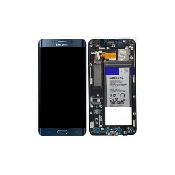 Samsung Galaxy S6 Edge Plus LCD Screen and Digitizer Assembly with Frame / Battery - Black - Original GH82-13205A Samsung - 1