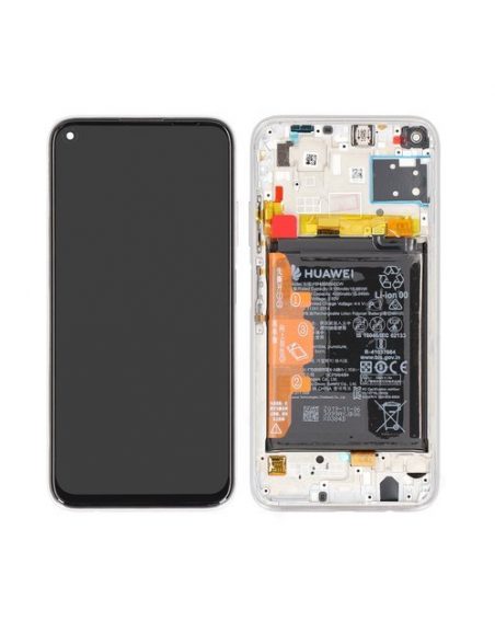 Huawei P40 Lite LCD Screen and Digitizer Assembly with Frame - Light Pink/Blue - Original Huawei - 1