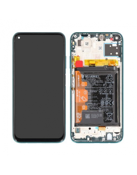 Huawei P40 Lite LCD Screen and Digitizer Assembly with Frame - Green - Original Huawei - 1