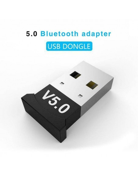 Wireless Bluetooth 5.0 Receiver Adapter USB Dongle Transmitter for PC Computer  - 1