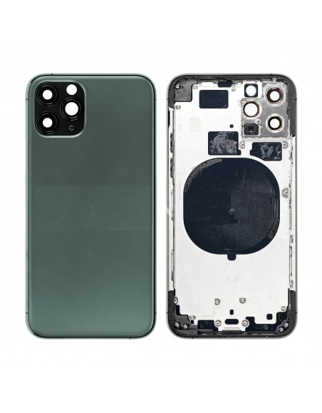 iPhone 11 Pro Back Cover with Frame - Green Apple - 1