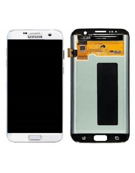 Samsung Galaxy S7 Edge LCD Screen and Digitizer Assembly -Original White Samsung - 1