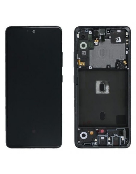 Samsung Galaxy A52 5G LCD Screen and Digitizer Assembly with Frame - Black Samsung - 1