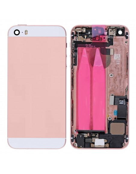 iPhone 5S / SE Back Cover, Power Button, Volume Button, Microphone, LoudSpeaker Flex Cable - Pink - OEM Apple - 1