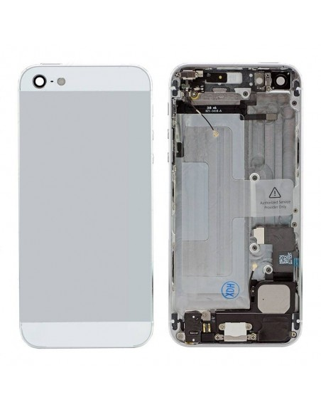 iPhone 5 Back Cover Assembly - Silver Apple - 1