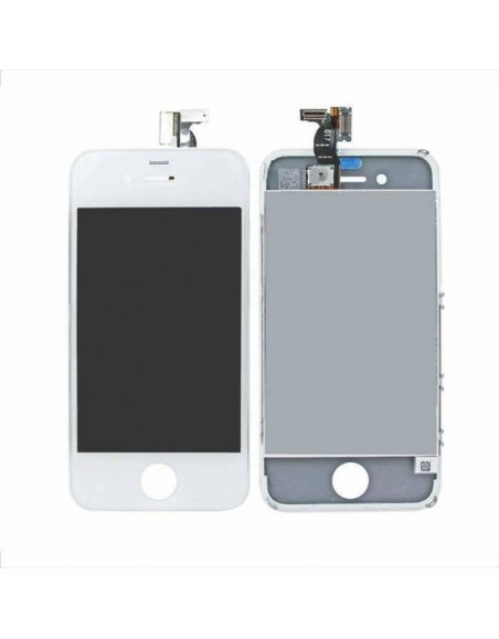 iPhone 4 LCD with Digitizer Assembly - White Apple - 1