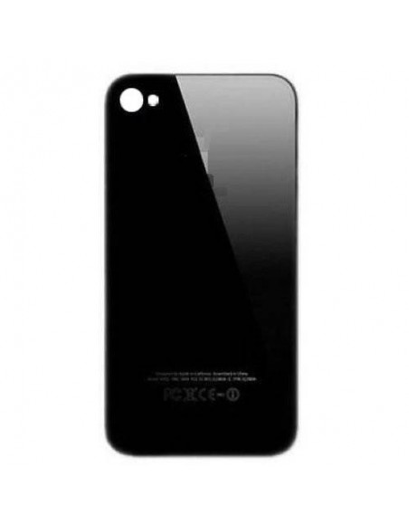 iPhone 4 Back Cover - Black Apple - 1