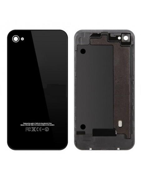 iPhone 4 Back Cover with Frame - Black Apple - 1