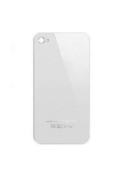 iPhone 4 Back Cover - White Apple - 1