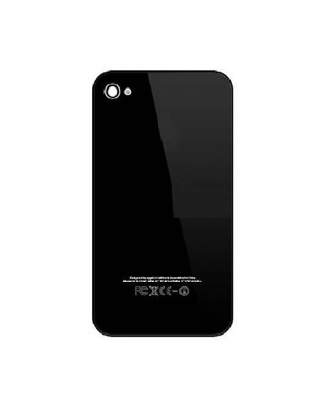 iPhone 4S Back Cover - Black Apple - 1