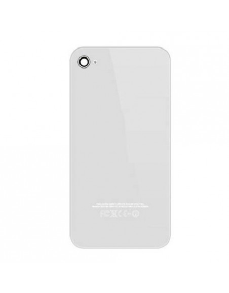 iPhone 4S Back Cover - White Apple - 1