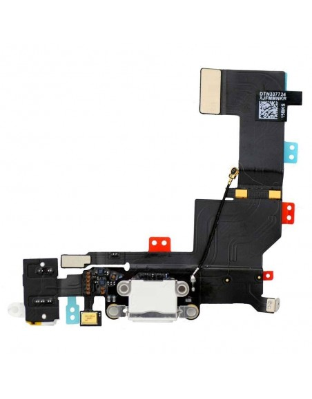 iPhone 5S Charging Connector Flex Cable - White Apple - 1
