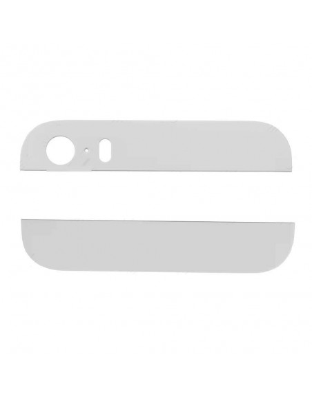 iPhone 5S/SE Back Glass Cover - White Apple - 1