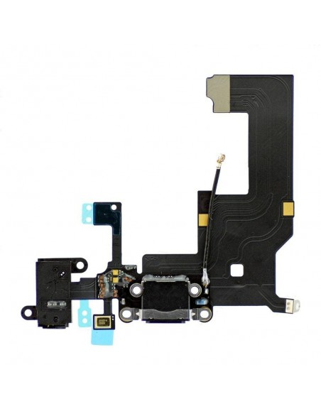 iPhone 5 Headphone & Charging Connector Flex Cable - Black Apple - 1