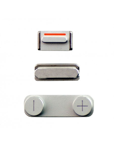 iPhone 5 Side Buttons - Silver Apple - 1