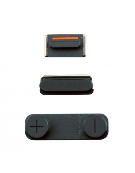 iPhone 5 Side Buttons - Black Apple - 1