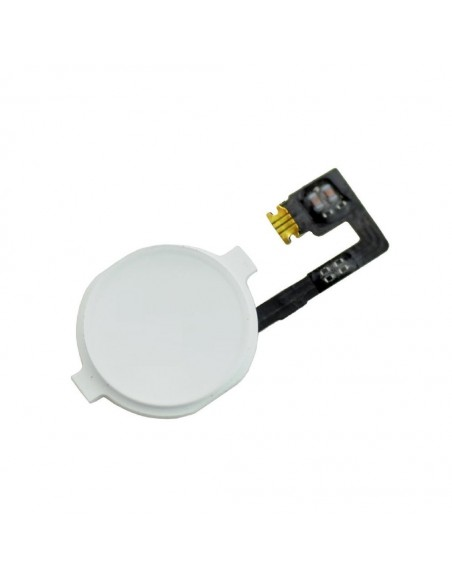iPhone 4 Home Button With Flex Cable - White Apple - 1