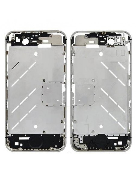 iPhone 4S Middle Plate - Silver Apple - 1